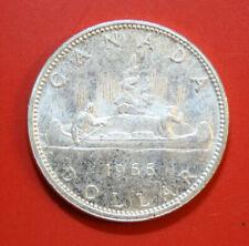 Kanada 1 Dollar 1966 Silber Coin KM# 64 ST-BU  #F2893 Kanu-Indianer