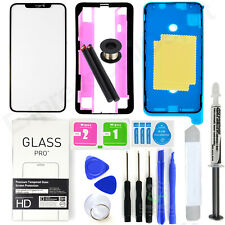 For Apple iPhone XS MAX Front Glass Lens Screen Replacement Kit +Bezel+LOCA+tool