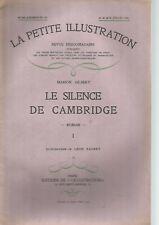 LA PETITE ILLUSTRATION - LE SILENCE DE CAMBRIDGE - ROMAN - MARION GILBERT