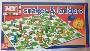 SNAKE & LADDER BOARD TRADITIONAL GAME FOR 2 TO 6 PLAYERS.
