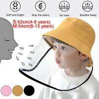 Full Face Shield Hat Anti Splash Dust Cap Protection Cover Transparent for Kids
