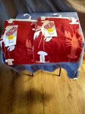 2 peace set lobster prints red-sun squad/beach towels/32x62