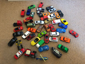 Huge Bundle Of Toy Vehicles Mixed Brands Metal Plastic Cars Toy