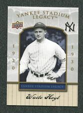 2008 Upper Deck Yankee Stadium Legacy Collection Rare White #82 Waite Hoyt