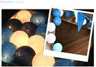 MARINE BLUE TONE COTTON BALL STRING FAIRY LIGHT DECOR WEDDING PARTY PATIO