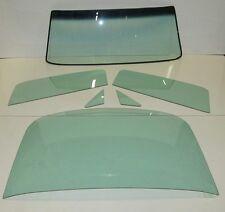 1965 1966 MUSTANG FASTBACK GLASS SET WINDSHIELD SIDE & BACK GLASS  GREEN TINT