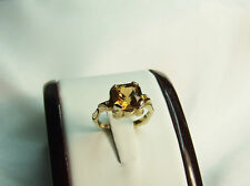 9 carat gold handcrafted natural Zircon ring.
