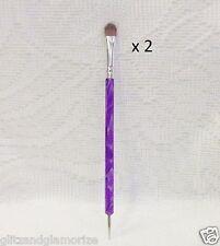 DL Debra Lynn Kolinsky Premium Quality FRENCH DETAIL Brush w/Dotting Tool ~2ct~