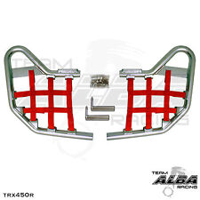 TRX 450R TRX450R Honda   Nerf Bars  Alba Racing   Silver bar Red nets 218 T1 SR