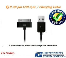 6ft Black USB Sync Data Charging Charger Cable for Apple iPhone 4 4S 4G 4th 3G