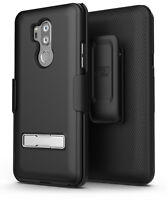 LG G7 ThinQ Case & Belt Clip Holster Slim Combo Case design w/ Alloy Kickstand