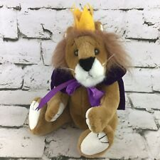 Ty Lion King Royal Purple Cape Jointed Plush Stuffed Toy Vintage 1993