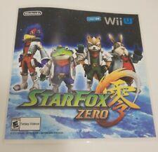 Star Fox Zero Nintendo Wii U Official Promotional Sticker Sheet Rare