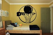 Wall Room Decor Art Vinyl Sticker Mural Decal Basketball Street Sport Fan FI397