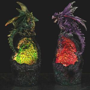 Crystal Cavern LED Dark Legends Dragon Figurine Ornament