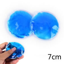 2x Round Reusable Ice Cold Hot Gel Pack Therapy Microwaveable Heat Pain Relief L