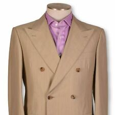 NWT BELVEST 6x4 Double Breasted Beige Wool/Cotton Dual Vent Suit 40 40r Italy