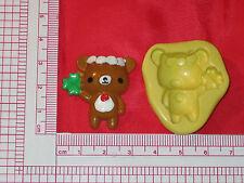 Silicone Mold Good luck Bear Fondant Cupcake A785 Gumpaste Chocolate Fondant