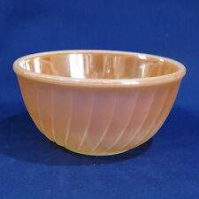Vintage Fire King Oven Ware Peach Luster Swirled Medium Mixing Bowl 7""