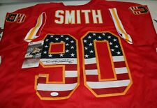 Neil Smith Autographed Signed Kansas City Chiefs Red USA CUSTOM Jersey JSA