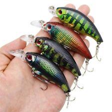 Crankbait Fishing Lure Wobbler Artificial Hard Bait For Bass 4pcs/lot