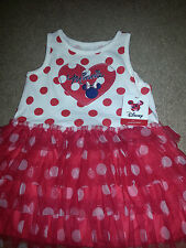 New listing minnie mouse dress heart w/ logo sparkling silver trim knit top tulle layer bott