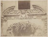 Fotografie Modern Detail D'Architecture Vintage Albumin Ca 1870