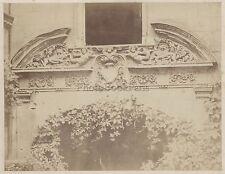Photographie moderne détail d'architecture Vintage Albumine ca 1870
