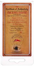 100th Anniversary Edition Mini Titanic Coal Certificate