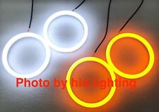 BMW Dual Angel Eye Cotton Halo Ring Light LED E46 amber DRL White Coupe Facelift