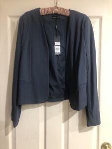 Tokito (Myer) Bonnie Jacket Size 14 NWT Charcoal Grey With White Spots