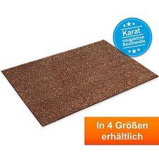 Baumwollmatte Karat Braun | Waschbare Fussmatte Fussabtreter Schmutzfangmatte