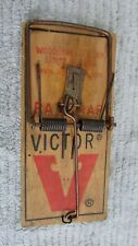 Vintage Victor Rat Trap Primitive Old Wood Farm Tool FREE S/H