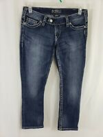 Silver Jeans Tuesday Capri Womens Blue Denim Size 30 x 26 Medium Wash Low Rise