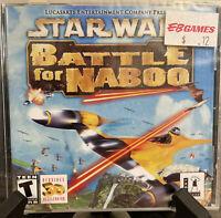 Star Wars: Battle for Naboo - LucasArts - PC - Vintage (2001) New/Sealed**
