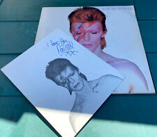 David Bowie - Aladdin Sane Lp vinyl record SIGNED fan club issue 1973 RCA