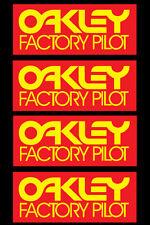 OAKLEY FACTORY PILOT VINTAGE MOTOCROSS STICKERS (4 pcs) HONDA SUZUKI KAWASAKI