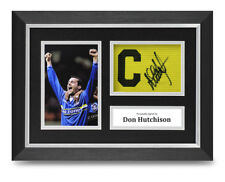 Don Hutchison Signed A4 Framed Photo Captains Armband Display Everton Autograph