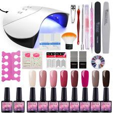 8 colors Gel Nail Polish Starter Kit With UV LED Lamp Dryer Nail Manicure Set