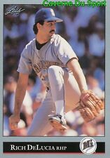 155   RICH DELUCIA    SEATTLE MARINERS  BASEBALL CARD LEAF 1992