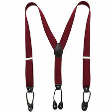 Unisex Men Suspender Braces Y-back Adjustable with Button Holes