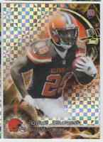 2015 TOPPS PLATINUM XFRACTOR DUKE JOHNSON RC CLEVELAND BROWNS #123 PARALLEL