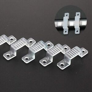 LED Strip Light Clips Holder Strong Fixing Clip for 12mm to 24mm LED Strip Width