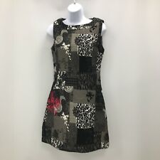 New Joe Browns Multi Print Shift Dress UK 8 Black Sleeveless Patchwork 301940