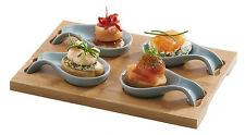 Typhoon Tasting Platter Mini Spoons & Bamboo Board Stoneware Spoon Taster Set