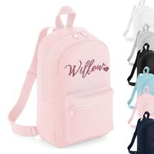 Personalised Name Mini Rucksack Backpack Back to School Bag Custom Girls Bags