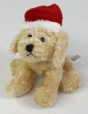 "GANZ ~ CHRISTMAS SOFT SPOT PUPPIES & KITTENS ~ SANTA DOG ~ 6"" Plush HX4746 2001"