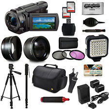 Sony FDR-AX33 4K HD Handycam Camcorder Video Camera + 20 Piece Accessory Set Kit