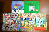 Lot 5 CHARLIE BROWN SNOOPY Christmas Look and Find PEANUTS CB1