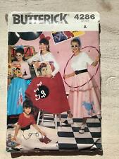 BUTTERICK 4286 PATTERN / UNCUT/ ONE SIZE/ POODLE SKIRT n TOP/ 1950's COSTUME